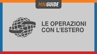 Operazioni con l'estero: principi e definizioni
